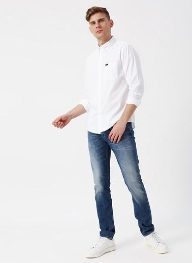 Lee&Wrangler Lee L880NB12 Beyaz Erkek Gömlek Beyaz